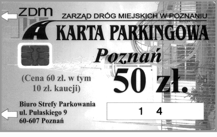 karta parkingowa czarny